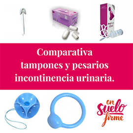 Comparativa Tampones Incontinencia Urinaria